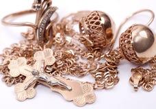złocista biżuteria Fotografia Royalty Free