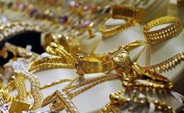 Złocista biżuteria Zdjęcia Stock