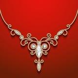 Złocista biżuterii kolia Zdjęcia Royalty Free
