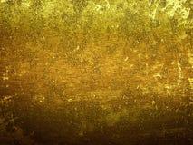 Złocista brudu metalu powierzchnia z przestrzenią dla teksta Zdjęcia Stock