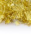Złocista dekoracja dla bożych narodzeń i nowego roku zdjęcie royalty free