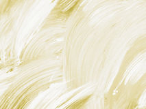 Złocista i biała abstrakcjonistyczna ręka malował tło, akrylowy paintin Obrazy Stock