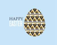 Złocista i czarna pojęcia Easter jajka dekoracja ilustracji