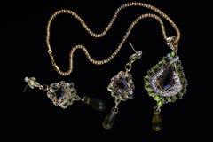 złocista indyjska w zawiły sposób biżuteria Fotografia Stock