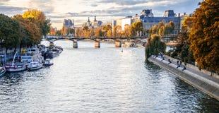 Złocista jesień w Paryż Obrazy Royalty Free