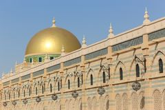Złocista kopuła meczet zdjęcia stock