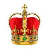 Złocista Królewska korona z klejnotami Fotografia Royalty Free