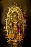 Złocista lewica zakrywający Buddha. Obrazy Royalty Free