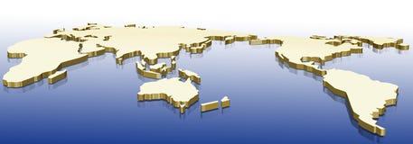 złocista mapa Zdjęcia Stock