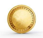 Złocista moneta royalty ilustracja