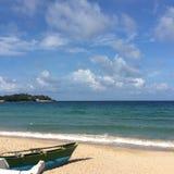 Złocista piasek plaża Obraz Stock