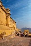 złocista słonia fortu ind Rajasthan przejażdżka Obraz Stock