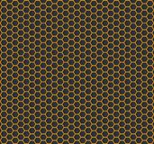 Złocista sześciokąt tekstura - wektor Obrazy Stock