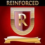 złocista tasiemkowa osłona Zdjęcie Royalty Free