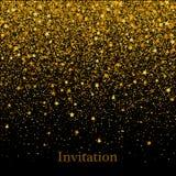 Złocista tekstura błyskotliwość w formie serca na czarnym tle kolor tła wakacje czerwonego żółty Złota słoista abstrakcjonistyczn ilustracja wektor