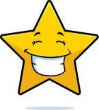 złocista uśmiechnięta gwiazda Obraz Stock