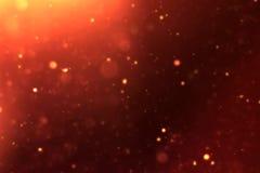 Złociste błyskotanie pyłu cząsteczki płynie tło zapętlają bezszwowego przygotowywającego, złotego lekkiego punkt, Fotografia Royalty Free