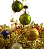 złociste Boże Narodzenie dekoracje Obraz Stock