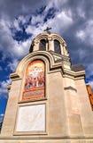 Złociste Cebulkowe kopuły Aleksander Nevsky katedra Zdjęcie Stock