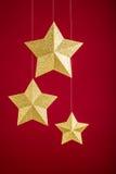 Złociste gwiazdy Obraz Royalty Free