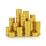 Złociste monety Zdjęcie Royalty Free