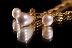 złociste perły zdjęcie stock