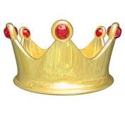 Złocistego korona wierzchołka pozioma traktowania królewiątka królowej książe Królewski Princess Zdjęcia Royalty Free