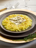 złocistego liść risotto szafran Zdjęcia Royalty Free