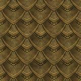 Złocistego metalu bezszwowa tekstura z wzorem royalty ilustracja