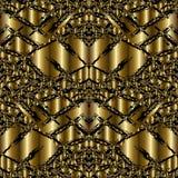 Złocistego nowożytnego 3d grunge bezszwowy wzór Abstrakcjonistyczny Wektorowy Backgrou Obraz Royalty Free