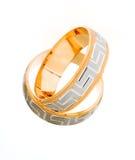 złocistego pierścionku ślub Zdjęcia Royalty Free