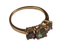 złocistego pierścionku s kobiety Zdjęcie Royalty Free
