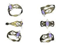 złocistego pierścionku topaz Zdjęcie Royalty Free
