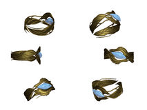 złocistego pierścionku tourmaline Obraz Stock