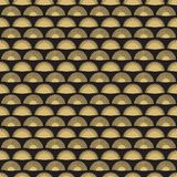 Złocistego ręki fan bezszwowy deseniowy projekt Abstrakcjonistyczna geometryczna fan tekstura ilustracji