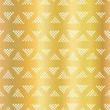 Złocistej folii geometrycznego trójboka wektoru bezszwowy wzór Trójbok wykłada na błyszczącym złotym tle Elegancki projekt dla cy royalty ilustracja