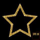 Złocistej luksusowej mody błyszcząca gwiazda Dekoracje dla bożych narodzeń, Nowe Obrazy Stock