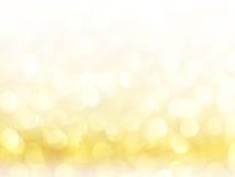 Złocisty Świąteczny Bożenarodzeniowy tło Zdjęcia Royalty Free
