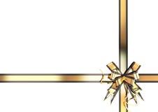 Złocisty świąteczny faborek z czarną granicą Obrazy Royalty Free