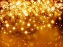 Złocisty świąteczny tło Zdjęcia Royalty Free