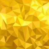 Złocisty żółty poligonalny trygonalny tło royalty ilustracja