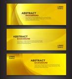 Złocisty abstrakcjonistyczny tło sztandaru projekt Obraz Stock