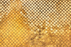 Złocisty abstrakcjonistyczny tekstury tło Fotografia Royalty Free