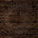 Złocisty abstrakta wzór na drewnianym tle świadczenia 3 d Obraz Royalty Free