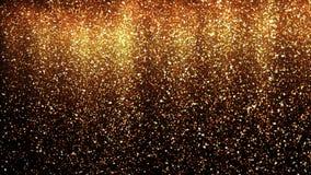 Złocisty błyskotliwość proszka deszcz Świąteczny złoty pył cząsteczek błyskotanie royalty ilustracja