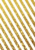 Złocisty błyskotliwy bezszwowy linia wzór na białym tle Fotografia Stock