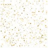 Złocisty błyskotliwy tło wektor Gwiazdowy pył i złota błyskotliwość Zdjęcia Stock