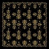 Złocisty bandana jedwabiu szalik Luksusowy złoty projekt Obraz Stock