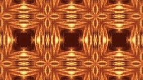 Złocisty bezszwowy abstrakcjonistyczny tło z cząsteczkami Wirtualna przestrzeń z głębią pole, łuna błyska i cyfrowi elementy zdjęcie wideo