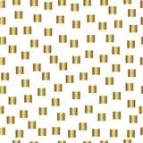Złocisty bezszwowy wzór, złoty stylowy tło Obrazy Stock
